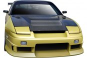 Image may not reflect your exact vehicle! Duraflex® - Vector Style Fiberglass Front Bumper Cover (Unpainted)