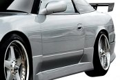 Image may not reflect your exact vehicle! Duraflex® - Vector Style Fiberglass Side Skirts Rocker Panels (Unpainted)