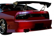 Image may not reflect your exact vehicle! Duraflex® - Vector Style Fiberglass Rear Bumper Cover (Unpainted)