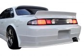 Image may not reflect your exact vehicle! Duraflex® - V-Speed Style Fiberglass Wide Body Rear Bumper Cover (Unpainted)