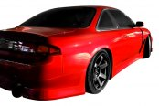 Image may not reflect your exact vehicle! Duraflex® - V-Speed Style Fiberglass Wide Body Rear Fenders (Unpainted)