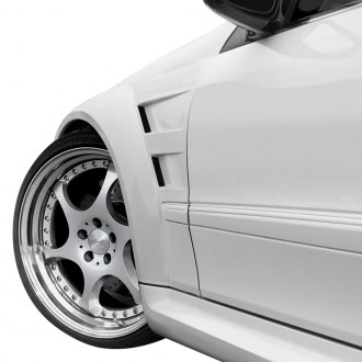 Duraflex® - Black Series Fiberglass Wide Body Front Fenders (Unpainted)