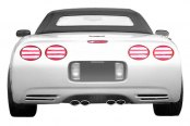 Duraflex® - C5 Conversion Style Fiberglass Rear Bumper Cover (Unpainted)