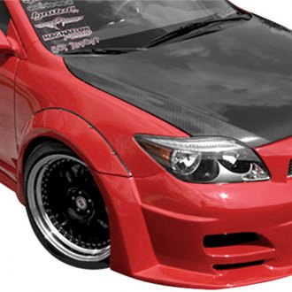 Duraflex® - Touring Style Wide Body Front and Rear Fender Flares (Unpainted)