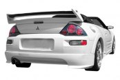 Duraflex® - Shine Style Fiberglass Rear Lip Under Spoiler Air Dam (Unpainted)