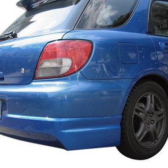 Duraflex® - L-Sport Style Fiberglass Rear Lip Under Spoiler Air Dam (Unpainted)