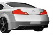 Duraflex® - Sigma Style Fiberglass Rear Lip Under Spoiler Air Dam (Unpainted)