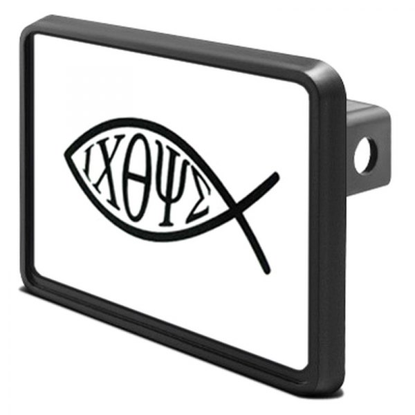 "DWD® - 1-1/4"" Hitch Cover with Christian Fish"