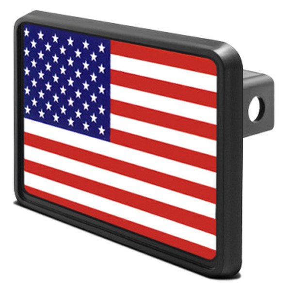 "DWD® - 1-1/4"" Hitch Cover with USA Flag"