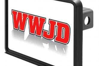 "DWD® - 1-1/4"" Hitch Cover with WWJD"