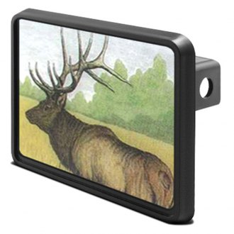 "iPickimage® - 1-1/4"" Hitch Cover with Elk"