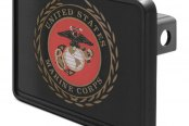 "DWD® - 1-1/4"" Hitch Cover with Marines Logo"