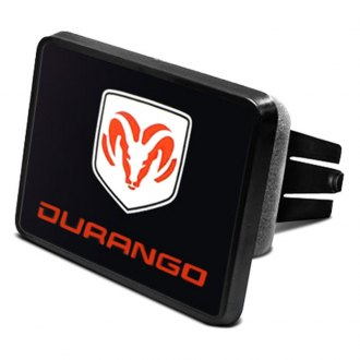 "iPickimage® - 2"" Hitch Cover with Durango Logo and Ram Emblem"