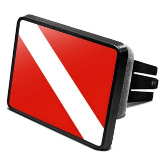 "iPickimage® - Hitch Cover with Diver's Flag for 2"" Receivers"