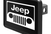 "DWD® - 1-1/4"" Hitch Cover with Jeep Grill Logo"