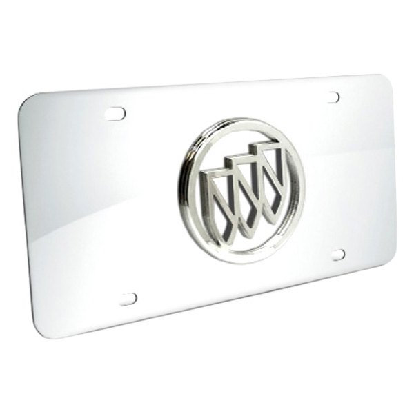DWD® - 3D Buick Logo on Chrome Stainless Steel License Plate