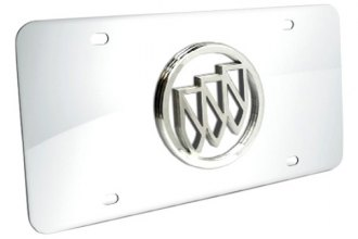 DWD® 300258 - 3D Buick Logo on Chrome Stainless Steel License Plate