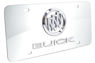 DWD® - 3D Buick Double Logo on Chrome Stainless Steel License Plate