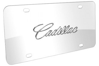 DWD® - 3D Cadillac Name on Chrome Stainless Steel License Plate