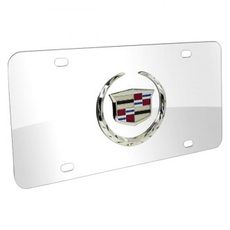 iPickimage® - 3D Cadillac Logo on Chrome Stainless Steel License Plate