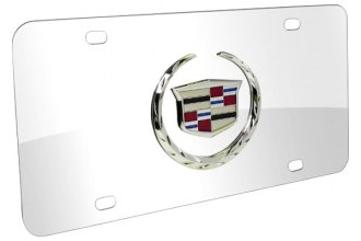 DWD® - 3D Cadillac Logo on Chrome Stainless Steel License Plate