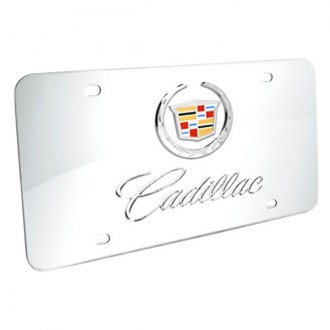 iPickimage® - 3D Cadillac Double Logo on Chrome Stainless Steel License Plate