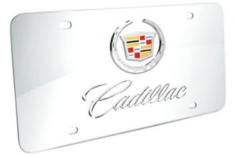 DWD® - 3D Cadillac Double Logo on Chrome Stainless Steel License Plate