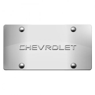 iPickimage® - 3D Chevy Logo on Chrome Stainless Steel License Plate