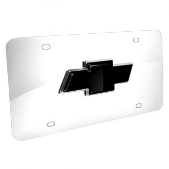 iPickimage® - 3D Black Bowtie on Chrome Stainless Steel License Plate