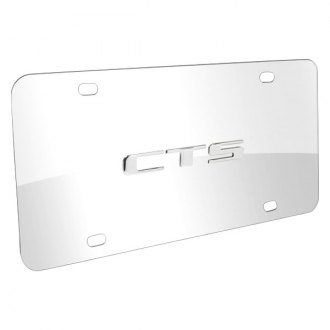 DWD® - 3D CTS Logo on Chrome Stainless Steel License Plate