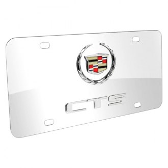 DWD® - 3D CTS Double Logo on Chrome Stainless Steel License Plate