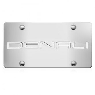 iPickimage® - 3D Denali Logo on Chrome Stainless Steel License Plate