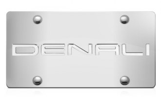 DWD® 301118 - 3D Denali Logo on Chrome Stainless Steel License Plate