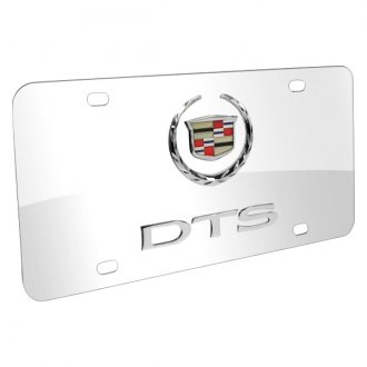iPickimage® - 3D DTS Double Logo on Chrome Stainless Steel License Plate