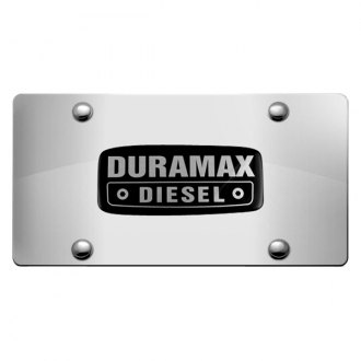 DWD® - 3D Duramax Logo on Chrome Stainless Steel License Plate