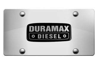 DWD® 301316 - 3D Duramax Logo on Chrome Stainless Steel License Plate