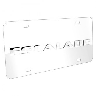iPickimage® - 3D Escalade Logo on Chrome Stainless Steel License Plate