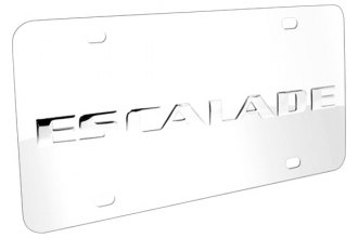 DWD® - 3D Escalade Logo on Chrome Stainless Steel License Plate