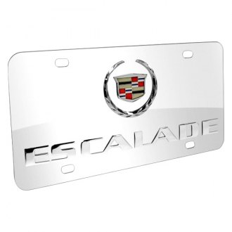iPickimage® - 3D Escalade Double Logo on Chrome Stainless Steel License Plate