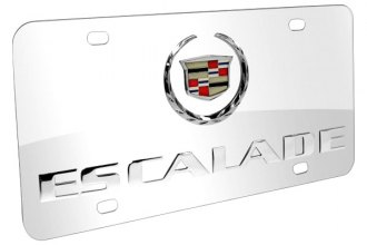DWD® - 3D Escalade Double Logo on Chrome Stainless Steel License Plate