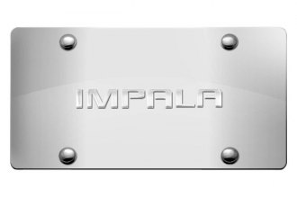 DWD® - 3D Impala Logo on Chrome Stainless Steel License Plate