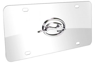 DWD® 302474 - 3D Impala Logo on Chrome Stainless Steel License Plate