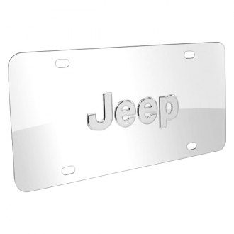 iPickimage® - 3D Jeep Logo on Chrome Stainless Steel License Plate