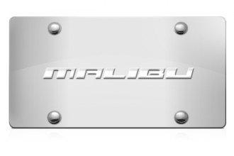 DWD® - 3D Malibu Logo on Chrome Stainless Steel License Plate