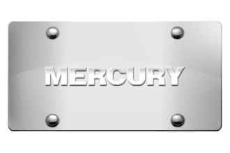 DWD® - 3D Mercury Logo on Chrome Stainless Steel License Plate