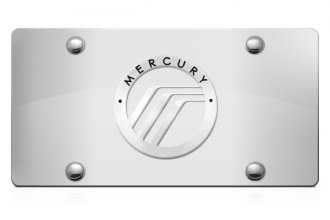 DWD® 302894 - 3D Mercury Logo on Chrome Stainless Steel License Plate