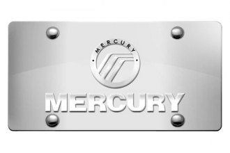 DWD® - 3D Mercury Double Logo on Chrome Stainless Steel License Plate
