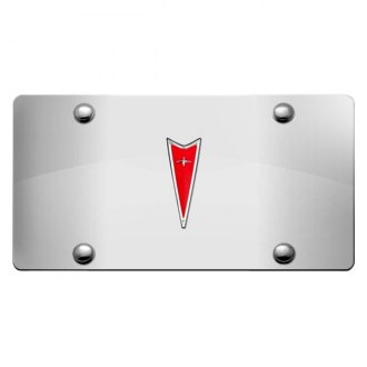 DWD® - 3D Pontiac Logo on Chrome Stainless Steel License Plate