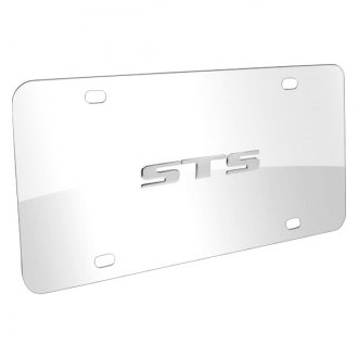 iPickimage® - 3D STS Logo on Chrome Stainless Steel License Plate