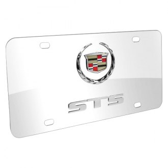 iPickimage® - 3D Cadillac STS Double Logo on Chrome Stainless Steel License Plate